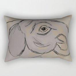 Asian Elephant Calf Rectangular Pillow