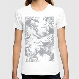 Toucans and Bromeliads - Sharkskin Grey T-shirt