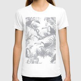 Toucans and Bromeliads - Sharkskin Grey T-shirt