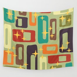 Retro Mid Century Modern Abstract Pattern 225 Wall Tapestry