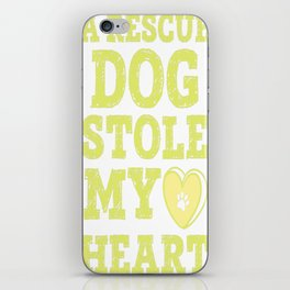 A Rescue Dog Stole My Heart iPhone Skin