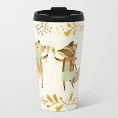 Cheers! From Pinknose the Opossum & Riley the Raccoon Travel Mug