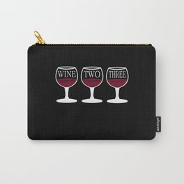 Wine Red Wine Wine Lovers Wine Glass Vinzer Carry-All Pouch