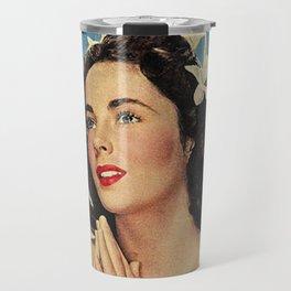 ELIZABETH TAYLOR PRAYING - MODERN SCREEN MAGAZINE Travel Mug