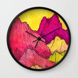 Heat Wave Mountains Wall Clock
