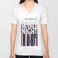 vonnegut V-neck T-shirts featuring Vonnegut - Mother Night by Neon Wildlife