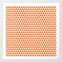triangles - orange and white Art Print