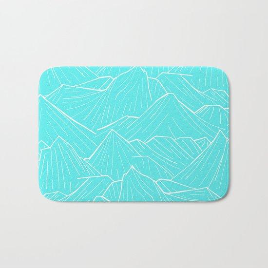 The Cold Blue Bath Mat