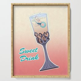 Sweet Drink Serving Tray