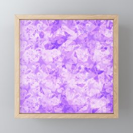 Pastel purple stars on a light background in the projection. Framed Mini Art Print