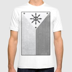 Happy Independence Day White Mens Fitted Tee MEDIUM