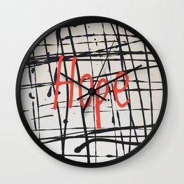 Best foot forward - hope Wall Clock