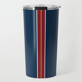 Repp Tie Pattern Travel Mug