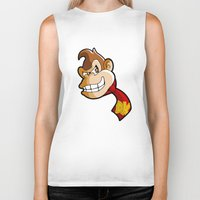 donkey kong Biker Tanks featuring DONKEY KONG DIGITAL ART by studio1six
