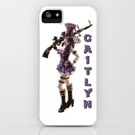 Caitlyn - League of Legends [marker sketch] iPhone Case