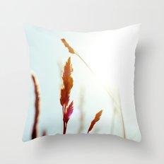 Nature Blue Reeds Throw Pillow
