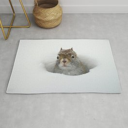 Pop-up Squirrel in the Snow Rug