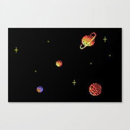 SATURN AND ASTEROIDS Canvas Print