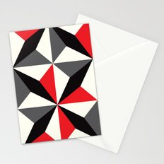 Geometric Pattern #25 (black red diamonds) Stationery Cards