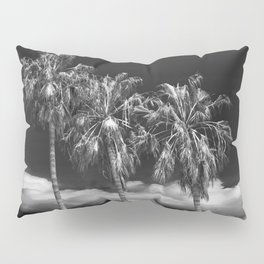 Palm Trees in Black and White on Cabrillo Beach Pillow Sham