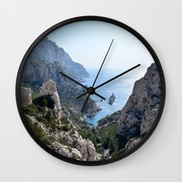 Calanque de Sugiton in Marseille - Beautiful France Wall Clock