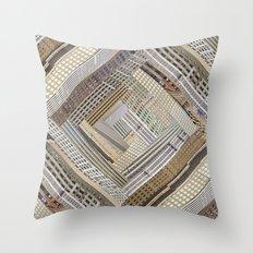 Skyscraper Quilt Throw Pillow