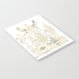 Santa Fe Garden – Gold Ink Notebook