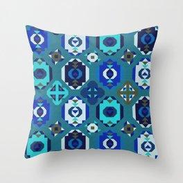 Blue klim Throw Pillow