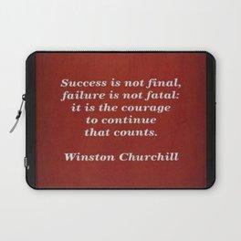 Winston Churchill Success Quote Laptop Sleeve