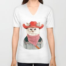 Rodeo Cat Unisex V-Neck