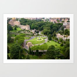 Vatican Gardens Art Print