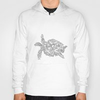 turtles Hoodies featuring Turtles by Evolution Posters