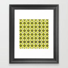 All-Over Yellow Fru Fru Framed Art Print