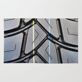 Background tread pattern truck tire Rug