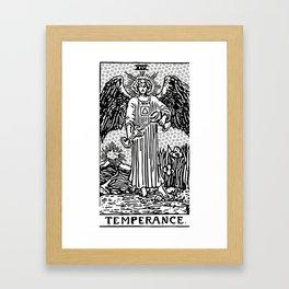 Modern Tarot Design - 14 Temperance Framed Art Print
