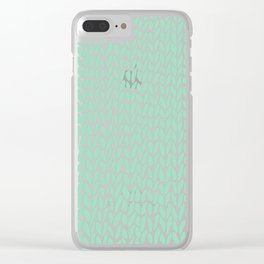 Hand Knit Mint Clear iPhone Case