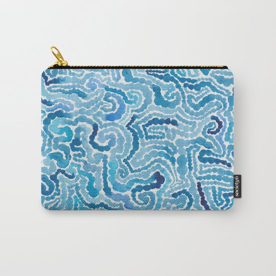 Blue Painting Carry-All Pouch