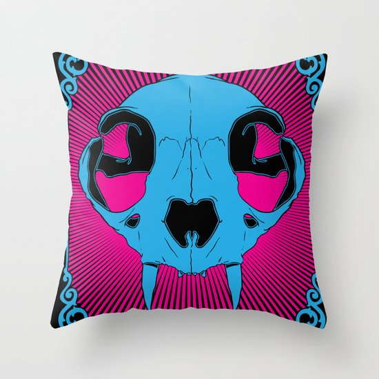 The Cats Meow Throw Pillow