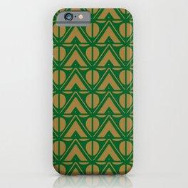 Green Sun & Mountains Abstract Retro iPhone Case