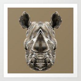 Rhino Sym Art Print