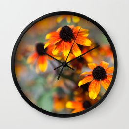 Yellow button flowers Wall Clock