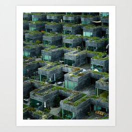 Stacked House Art Print