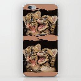 CLOUDED LEOPARD CUBS LOVE iPhone Skin