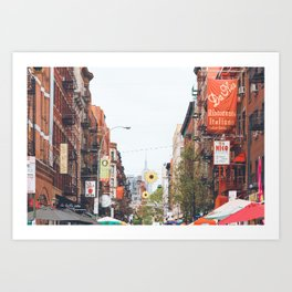 Mulberry Street Little Italy Art Print