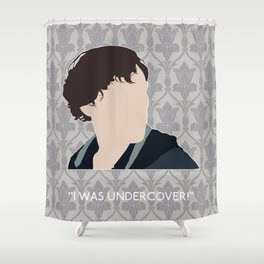 His Last Vow - Sherlock Holmes Shower Curtain