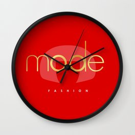 Bold RED Wall Clock