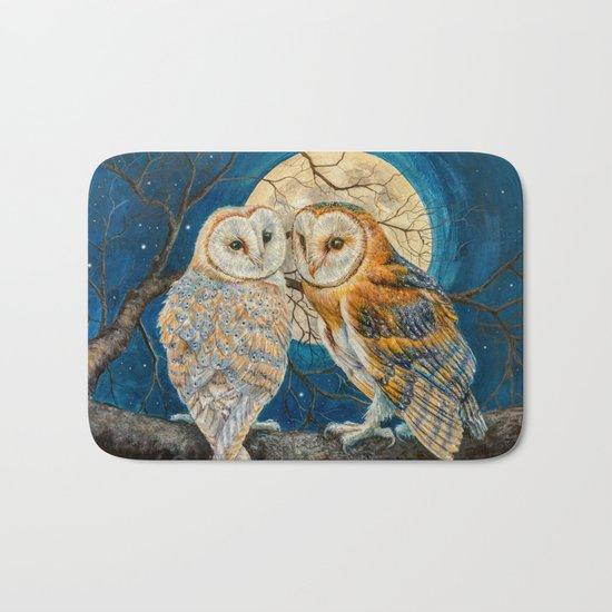 Owls Moon Stars Bath Mat