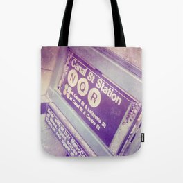 Canal St Subway New York City Tote Bag