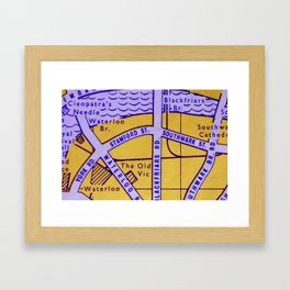 Streets of London Framed Art Print