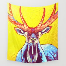 """Cornua ex Deo""Horns of God deer art Wall Tapestry"